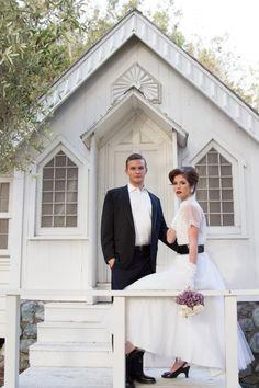 elegant vintage 50's style wedding