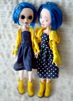 https://flic.kr/p/qKBvTY | Coraline dolls | Customized Ever After High dolls by me (unniedolls) THEY ARE SOLD!