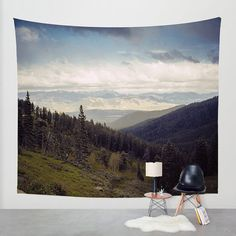 Mountain Wall Tapestry, Nature Decor, Montana Tapestry, Rocky Mountain Decor, Photo Tapestry, Large Tapestry, Mountain Wall Hanging