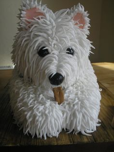 Westie Cake from Julie Cains Cakes i want this cake of kirby joe!!