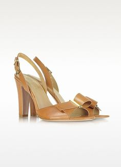 Elie Tahari Alice - Sandalo in Pelle Marrone