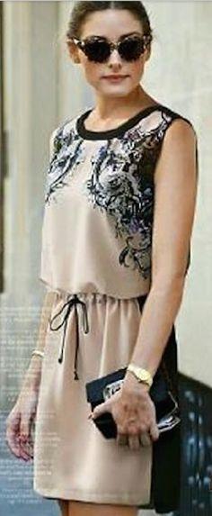 love this printed drawstring dress http://rstyle.me/n/hx6u9r9te