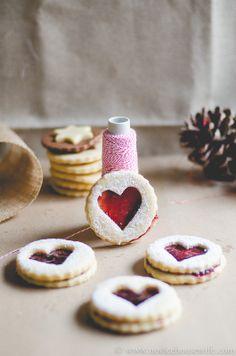 Coconut & Jam Heart Cookies