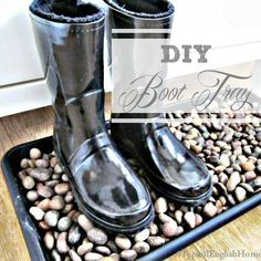 pebble boot tray DIY - Google Search