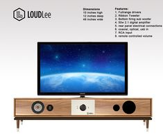 bluetooth TV stand with built in speakers