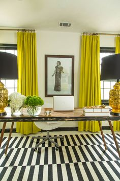Dayka Robinson Designs Home Black & White Office Makeover Vertical