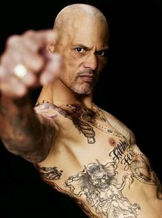 Happy played by real-life Hells Angel David LaBrava!