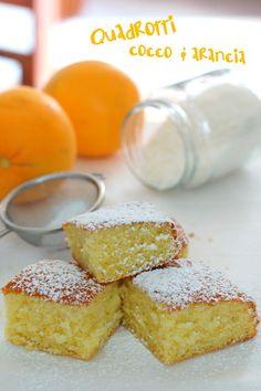 Quadrotti cocco e arancia, su #alterkitchen