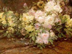 Bouquet de roses by Constant Montald