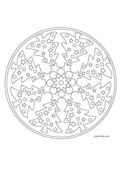 Coloriage Mandala Noel à colorier - Dessin à imprimer