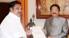 V K Sasikala's aide Edappadi Palanisamy has been sworn in as chief minister of Tamil Nadu by Governor C Vidyasagar Rao at 4:40 pm today. He has 15 days to p