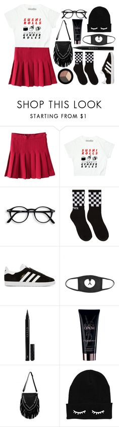 """392. Sushi Rolls."" by choosemaknae ❤ liked on Polyvore featuring Alyx, adidas Originals, Gucci, Yves Saint Laurent, Lamoda and It Cosmetics"