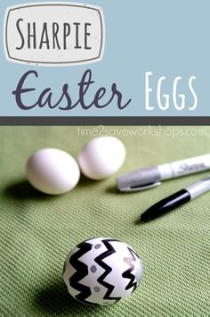 Sharpie Easter Eggs | Easy and Mess-Free!