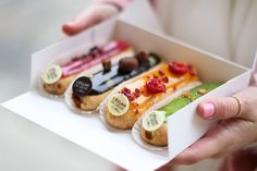 Where to find the best sweets in Paris: eat your way through Paris in a dessert delight! Eclairs, Profiteroles, Cheap Eats Paris, Delicious Desserts, Dessert Recipes, Best Sweets, Choux Pastry, Cupcakes, French Desserts