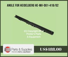Printers Parts & Equipment Parts and Supplies store also known as Shop.PrintersParts collects wide range of Angle for Heidelberg at our web store. You can buy Angle for Heidelberg at an affordable price rate. For more information kindly call us @ (416) 752-4488 / 1-800-268-6577 OR mail us @ parts@printersparts.com or visit us https://shop.printersparts.com/shop/machine-parts/heidelberg-spare-parts/angle-heidelberg-mv-001-41802/