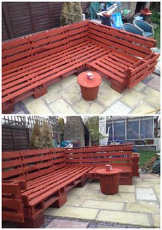 #Garden, #PalletGardenSet, #PalletSofa, #RecyclingWoodPallets