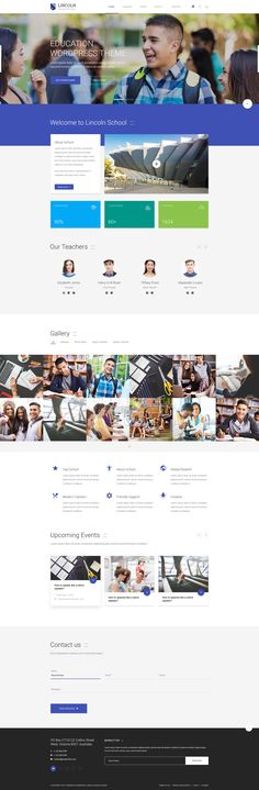 Lincoln | Educational Material Design PSD Theme - PSD Templates | ThemeForest