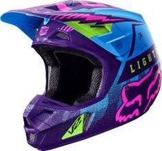 Fox Racing 2016 Vicious SE Helmet Blue available at Motocross Giant Fox Helmets, Dirt Bike Helmets, Dirt Bike Gear, Dirt Biking, Motocross Girls, Motocross Helmets, Fox Motocross, Equipement Moto Cross, Triumph Motorcycles