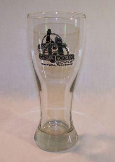 Beer Glass - Heavy 18 oz Pilsner - General Jackson Showboat Nashville Tennessee