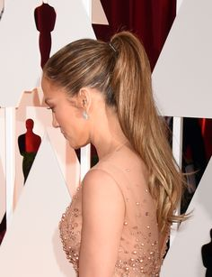 Trending: Ponytail Hairstyles - 40 Cool Ways to Rock a Ponytail like a Celebrity | JLo with a voluminous high ponytail
