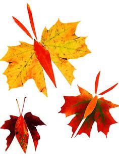 Fall Leaf Butterflies. #kidscrafts #schoolcrafts