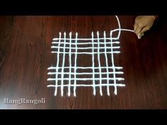 Easy Padi Kolam with 4*4 dots | New Geethala Muggulu | Easy Rangoli with lines | RangRangoli - YouTube