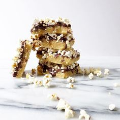 Chocolate Cookie Popcorn Bars Recipe @thetoastedpinen made for @pipsnacks #reciPIP contest! Check out her blog for the full  recipe! http://thetoastedpinenut.com/chocolate-cookie-popcorn-bars/