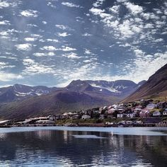 This is Siglufjörður. A beautiful town north of Iceland.