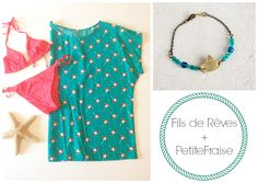 PetiteFraise + Fils de Rêves: style tips part VI. Holidays at the seaside: sailing on a boat and sunbathing on the beach #summer #jewelry #handmade #clothing #fashion #style #sea