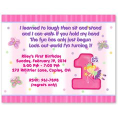Crab birthday party invitation hot pink and blue crab printable wording 1st birthdays1st birthday partiesbirthday party ideasfirst birthday invitationsbirthday stopboris