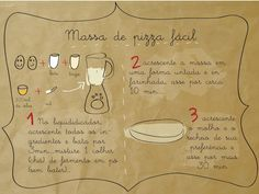 Massa de pizza No Salt Recipes, Wine Recipes, Mexican Food Recipes, I Love Pizza, Good Pizza, Salty Snacks, Portuguese Recipes, Food Illustrations, Creative Food