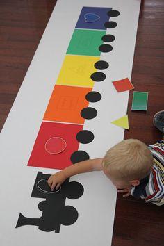 Color Activities For Toddlers, Train Activities, Toddler Learning Activities, Montessori Activities, Kids Learning, Preschool Classroom, Preschool Crafts, Transportation Crafts, Cognitive Activities