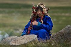 Tuvan female Kam(Shaman) Galba July 2014.