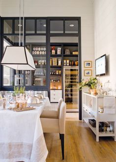 functional English style kitchen pantry dining