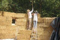 How to Build a straw bale house. Escape from the city with a weekend house. But not just any old weekend house.