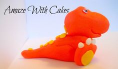 3D Fondant Dinosaur Cake Topper By AmazeWithCakes On Etsy