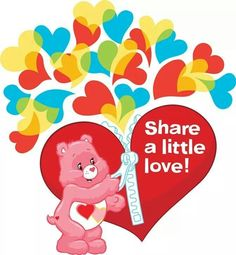 Care Bears share a little love. Bear Tumblr, Care Bears Vintage, Childhood Characters, Cartoon Quotes, Bear Valentines, Bear Decor, Bear Pictures, Childhood Cancer, Love Symbols