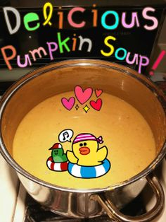 Made pumpkin soup loosely following this pumpkin soup recipe.   http://www.simplyrecipes.com/recipes/spicy_pumpkin_soup/  And by loosely, I mean, adding way more spices than I should have (Sicilian spice blend, Montreal Steak Seasoning, and more). It tasted good to me and another friend said it tasted good as well XD