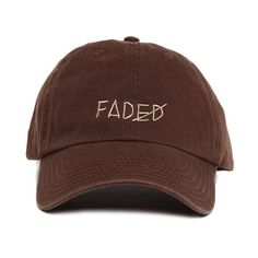 Fall Tone Faded Strapback (150 BRL) ❤ liked on Polyvore featuring accessories, hats, 6 panel cap, 6 panel hat, cotton hat, cotton cap and six panel hat
