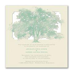 Leafy Lace - Invitation - Ecru