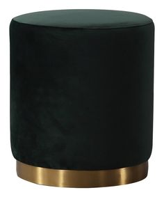 Look at this Opal Green Velvet Ottoman on #zulily today!