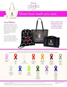 Love these Care Ribbons!  National Breast Cancer Awareness Month and National Domestic Violence Awareness Month are in October, and Veterans Day on November 11.
