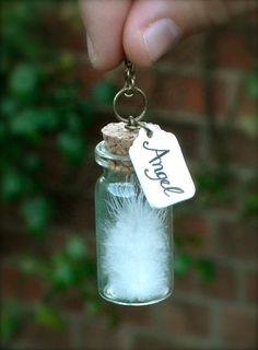 Angel Feather Pendant by KookyGoose on Etsy, £13.00