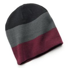 Van Heusen Colorblock Knit Beanie - Men
