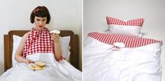 Buon Appetito bed covers couples funny