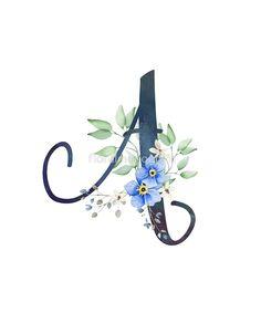 blue flower wallpaper Monogram A Wild Blue Flowers by floralmonogram Monogram Wallpaper, Alphabet Wallpaper, Monogram Design, Monogram Letters, Flower Logo, Flower Art, Logo Fleur, Blue Flower Wallpaper, Illustration Blume