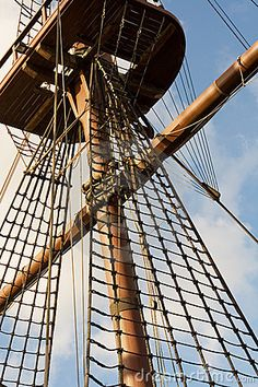 Tall Ship Rigging by Pdtnc, via Dreamstime