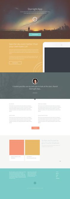 Free PSD Website Design - Bright Pastel Design - A bright and fun pastel website design free to download and customise in Photoshop.