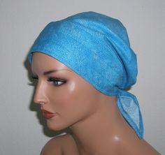 """Kopftücher - Kopftuch """"Ella"""" in Türkis/Blau - ein Designerstück von beHUETE-dich bei DaWanda"""