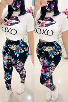 Red Fashion, Fashion Outfits, Fashion Clothes, Two Piece Outfits Pants, Black Short Sleeve Tops, Curvy Girl Outfits, Printed Shorts, Dress To Impress, Cool Outfits